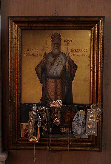Wonder working icon of Saint Nektarious / Icoană făcătoare de minuni a Sfântului Nectarie